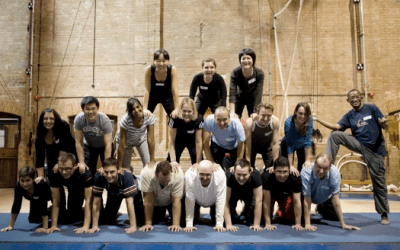 Workshop menselijke piramide